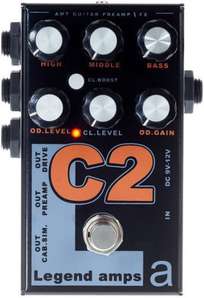 C-2 Legend Amps 2 Двухканальный гитарный предусилитель C2, AMT Electronics