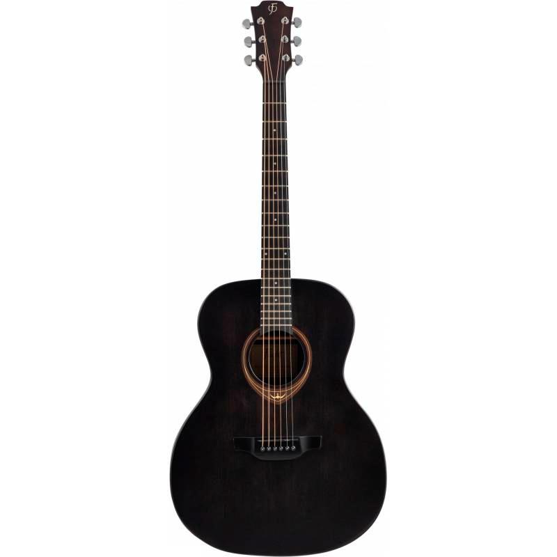 Акустическая гитара FLIGHT HPLD-500 EBONY - черная гитара с корпусом из HPL и верхней декой из масси