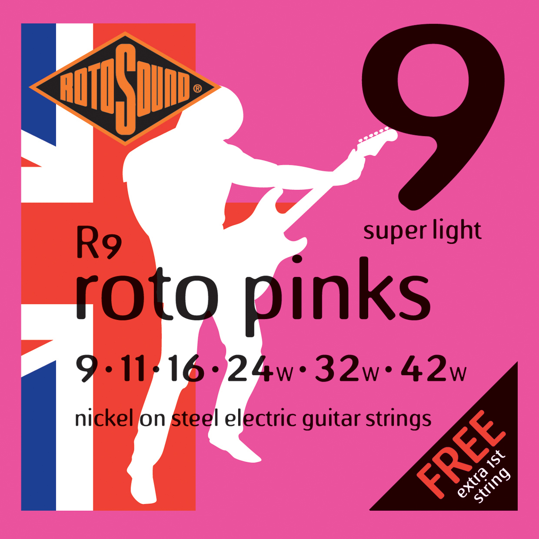 ROTOSOUND R9 STRINGS NICKEL SUPER LIGHT струны для электрогитары, никелевое покрытие, 9-42