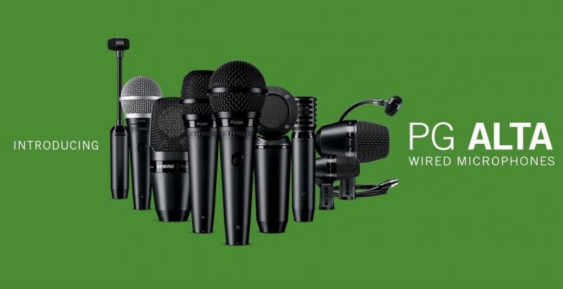 Новая линейка микрофонов SHURE для начинающих музыкантов: PG ALTA™ RANGE