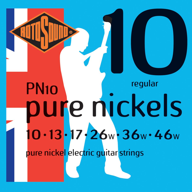 ROTOSOUND PN10 STRINGS NICKEL струны для электрогитары, никелевое покрытие, 10-46
