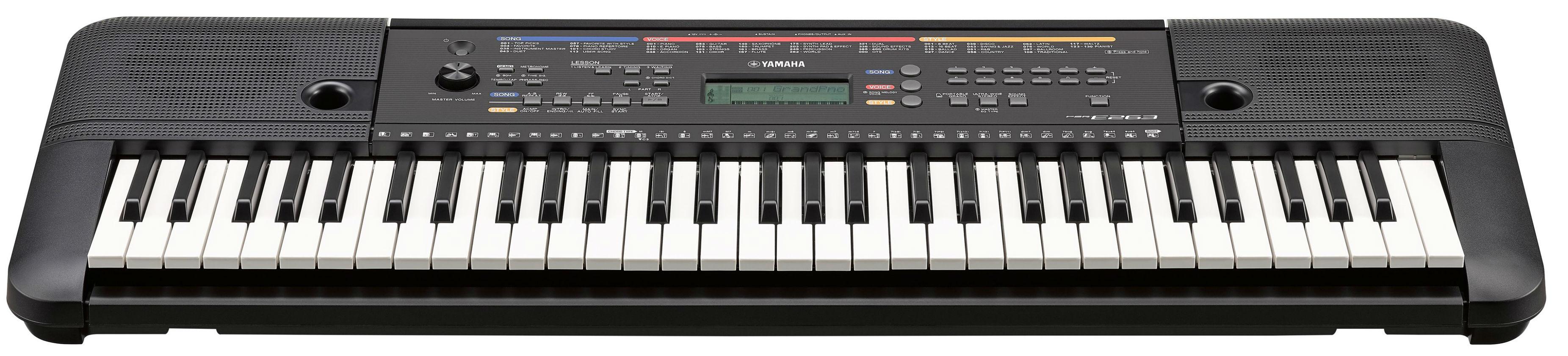 A071535 YAMAHA PSR-E263 синтезатор с автоакк. 61клавиша, 400 высококачественных тембров, 130 стилей
