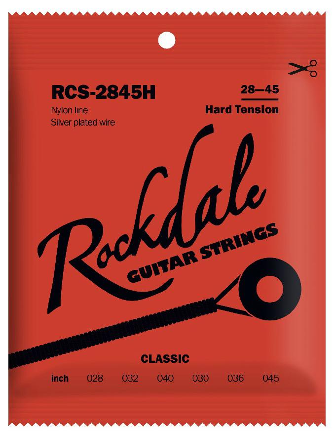 ROCKDALE RCS-2845H Струны для классической гитары. Основа струны: нейлон. Обмотка: посеребренная. На