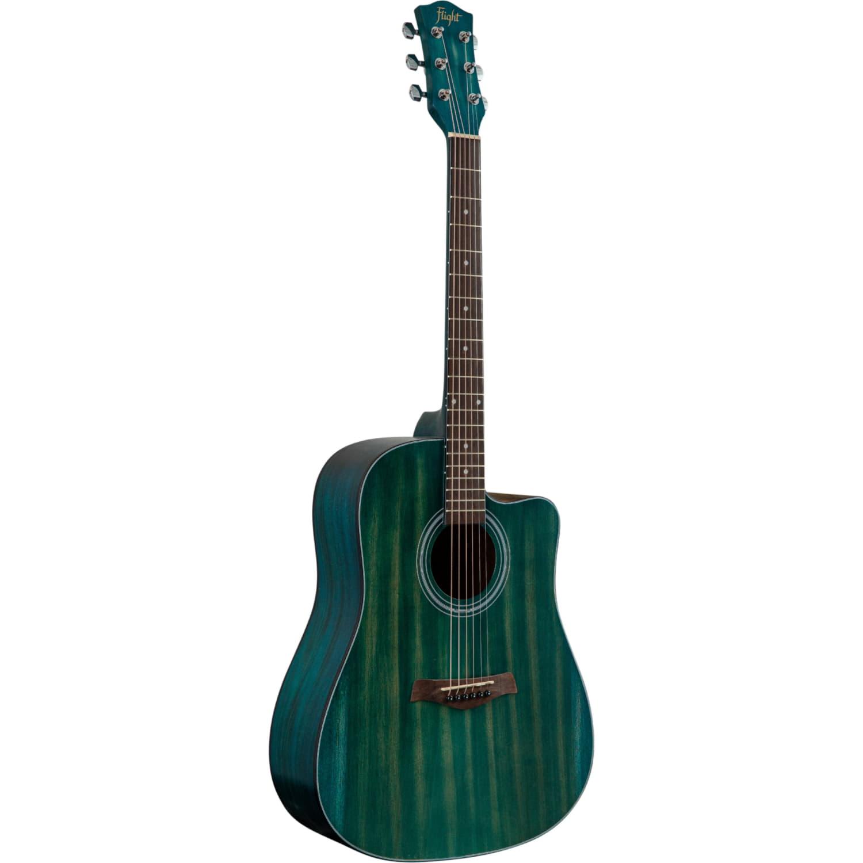 FLIGHT D-155C MAH BL - акустическая гитара с вырезом, в.дека-махагони, корпус-махагони, цвет голубой
