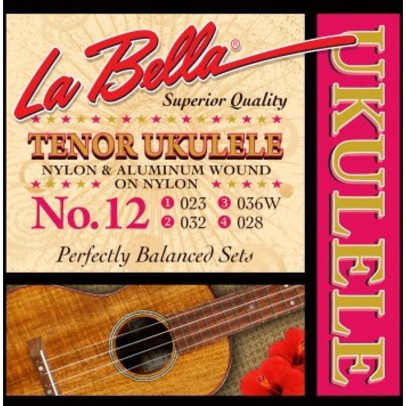 LaBella 12-TENOR Комплект струн для укулеле тенор