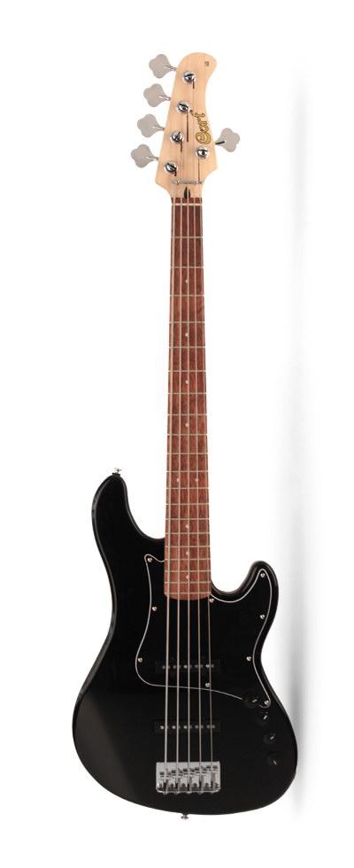 GB35JJ-BK GB Series Бас-гитара 5-струнная, черная, Cort