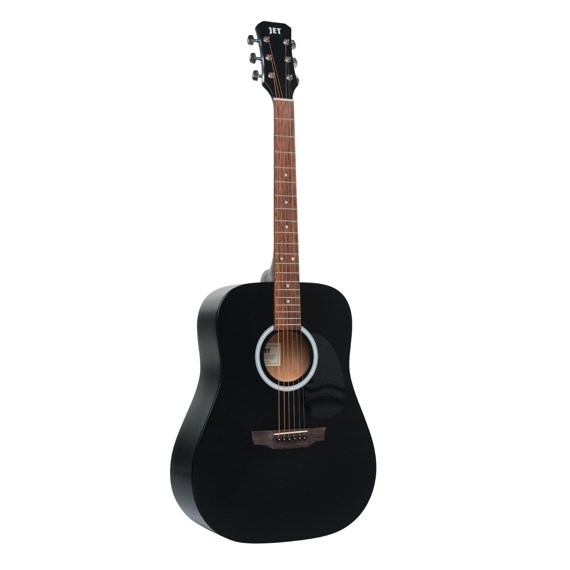 JET JD-255 BKS - акустическая гитара, верхняя дека - ель, корпус - красное дерево, цвет черный