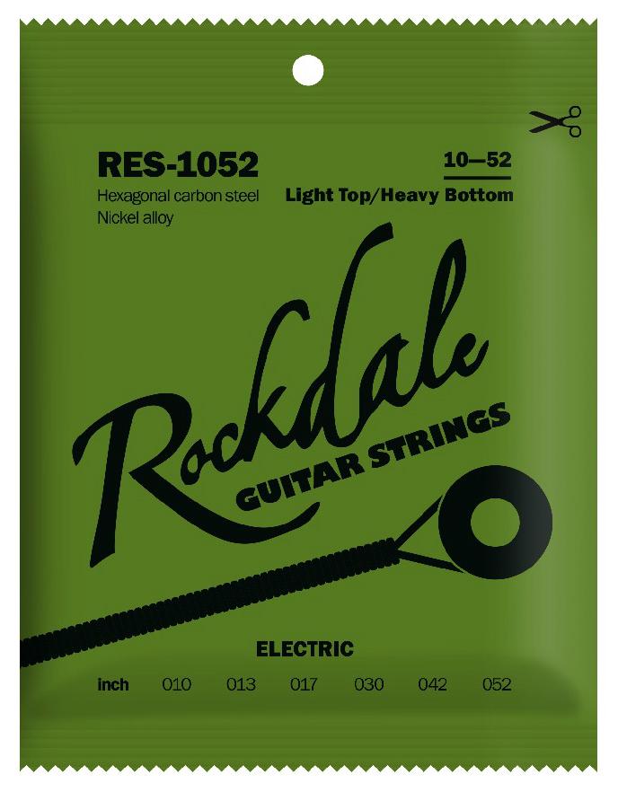 ROCKDALE RES-1052 Струны для электрогитары с шестигранным сердечником и никелевым покрытием. Цветная