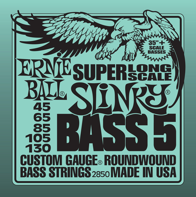 Ernie Ball 2850 струны для 5-cтрунной бас-гитары Nickel Wound Bass Super Long Scale Slinky 5 (35