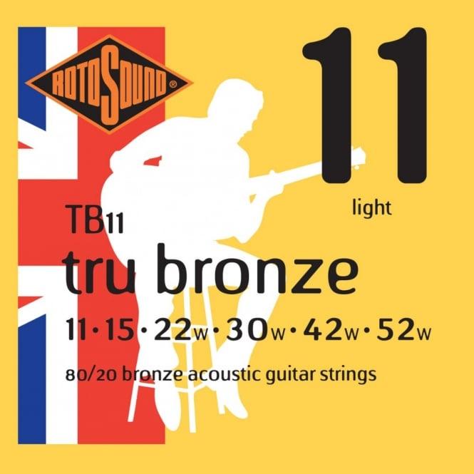 ROTOSOUND TB11 STRINGS 80/20 BRONZE струны для акустической гитары, покрытие - бронза 80/20, 11-52