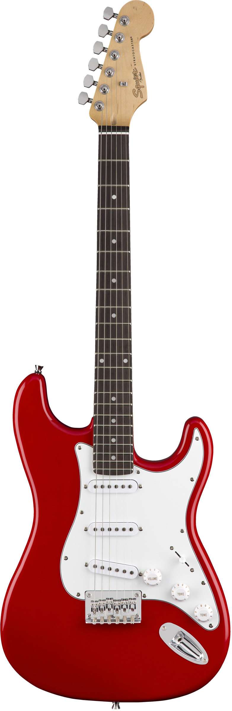 FENDER SQUIER MM STRATOCASTER HARD TAIL RED электрогитара, цвет красный, гриф - клён, бридж