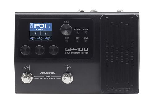 Valeton GP-100 напольный процессор эффектов, 45 усилителей, 40 кабинетов, 50  эффектов, до 9 эффекто