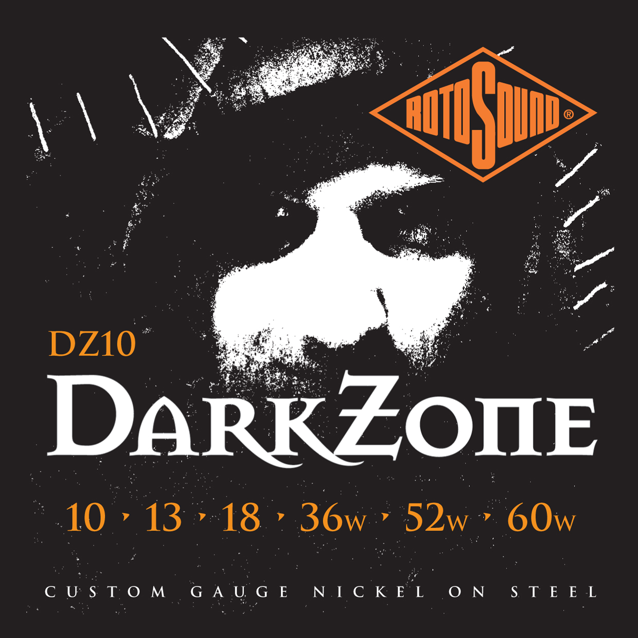 ROTOSOUND Dark Zone Limited Edition струны для электрогитары 10-60