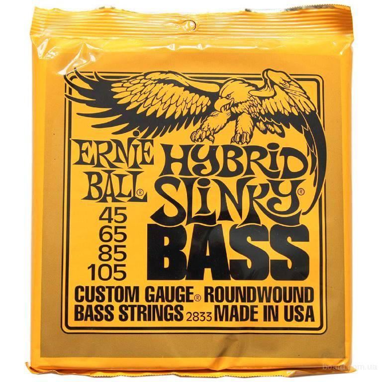 Струны для бас гитары ERNIE BALL 2833 (45-65-85-105)