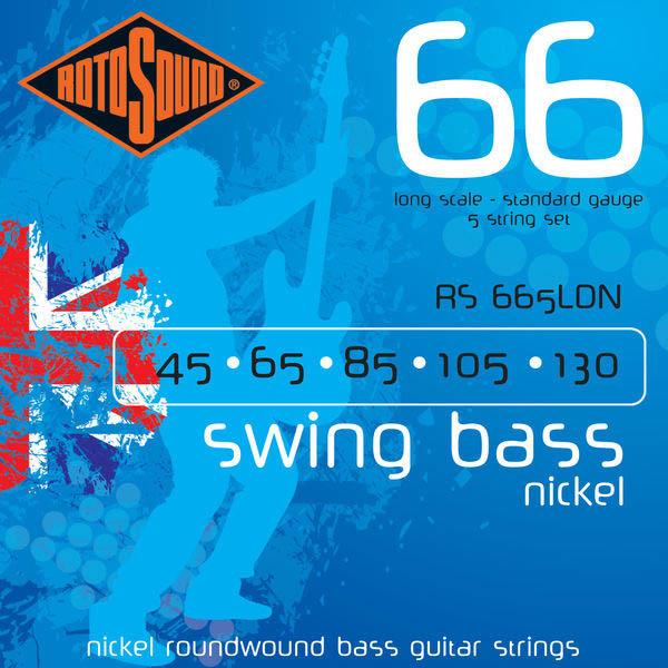 ROTOSOUND RS665LDN BASS STRINGS NICKEL струны для 5-струнной басгитары, никелевое покрытие, 45-130