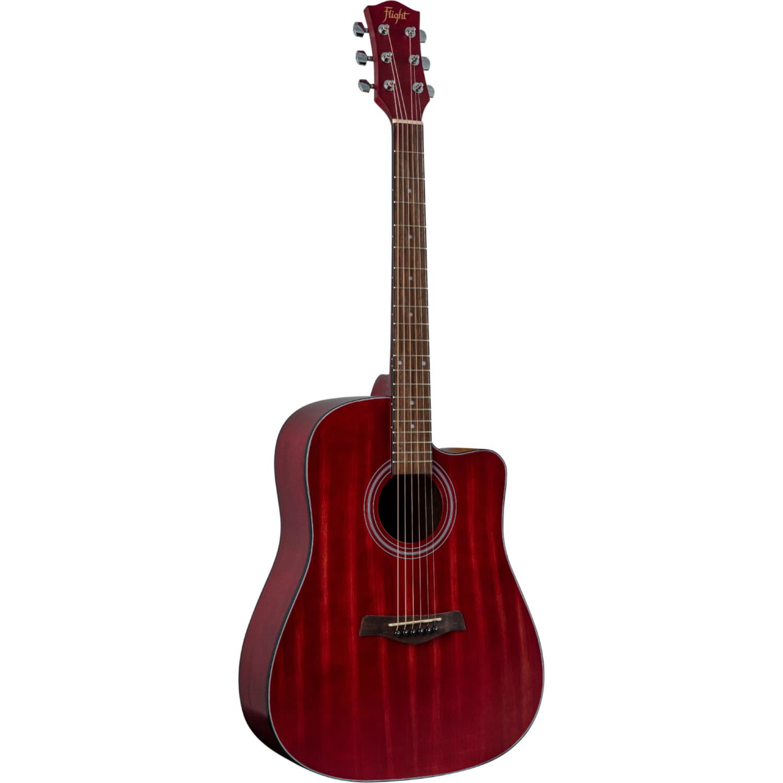 FLIGHT D-155C MAH RD - акустическая гитара с вырезом, в.дека-махагони, корпус-махагони, цвет красный