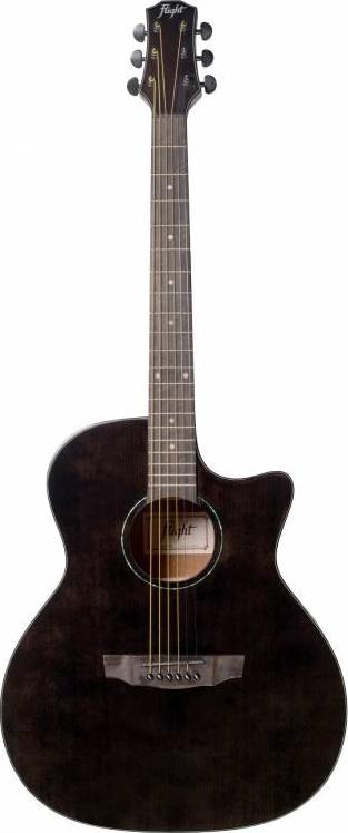 FLIGHT GA-150 BK - гитара Grand Auditorium, цвет черный