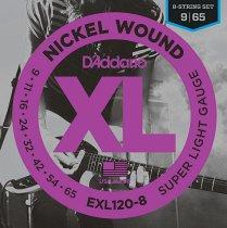 EXL120-8 NICKEL WOUND 8-STRING SUPER LIGHT 9-65 фото