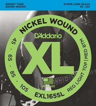 EXL165 Nickel Wound Bass, Custom Light, 45-105 фото
