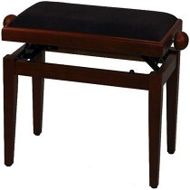 FX Piano Bench De Luxe Cherry Matt Black Seat, GEWA  - купить со скидкой