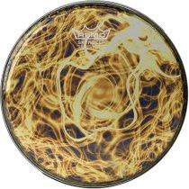 BD-0008-00-SC016 Doumbek Drumhead, R Series, SKYNDEEP® Clear Tone, 8` Diameter, 1/2` Collar, Wide Hoop, `Yellow Mist` Graphic фото