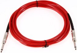 FENDER 20` CALIFORNIA INSTRUMENT CABLE CANDY APPLE RED