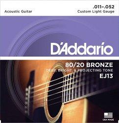 D`ADDARIO EJ13 80/20 BRONZE CUSTOM LIGHT 11-52