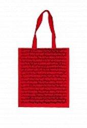 Музыкальный сувенир Сумка НОТЫ И.С.БАХ размер 35*40см., длина ручки 27см ( цвет красный)