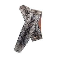 PLANET WAVES 2` Suede with Silver Screened Snakeskin Print