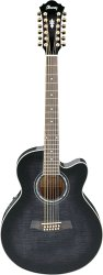 IBANEZ AEL2012E TRANSPARENT BLACK SUNBURST