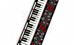 Музыкальный сувенир Браслет Нотки, скрипичные ключи (широкий,резиновый)