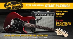 FFENDER SQUIER AFFINITY SERIES™ STRAT® HSS&CHAMPION™ 20 CANDY APPLE RED