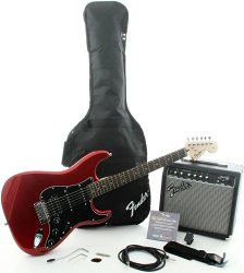 FENDER SQUIER AFFINITY STRAT HSS&FRONTMAN® 15G AMP - CANDY APPLE RED