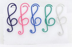 Музыкальный сувенир СКРЕПКА Скрипичный ключ 4,5см цв. в асс. 10шт.