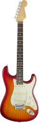 FENDER American Elite Stratocaster®, Rosewood Fingerboard, Aged Cherry Burst (Ash)