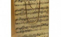 Музыкальный сувенир Пакет бумажный НОТЫ ВИНТАЖ 32*26