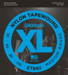 D`ADDARIO ETB92 TAPEWOUND BASS MEDIUM 50-105