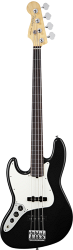 FENDER AMERICAN STANDARD JAZZ BASS 2012 LEFT HANDED RW BLACK