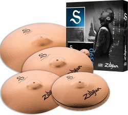 ZILDJIAN S390 S FAMILY PERFORMER SET (14` S Hi-Hat Pair, 16` S Medium Thin Crash, 18` S Medium Thin Crash, 20` Ride)