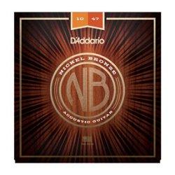 D`ADDARIO NB1047 Nickel Bronze Acoustic, Extra Light, 10-47