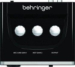 Behringer UM2 -USB-аудиоинтерфейс, 2 входа, 2 выхода, микр. предусилитель XENYX