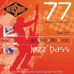 ROTOSOUND SM77 JAZZ BASS FLATWOUND STRINGS MONEL