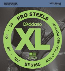 D`ADDARIO EPS165 PROSTEELS BASS CUSTOM LIGHT 45-105