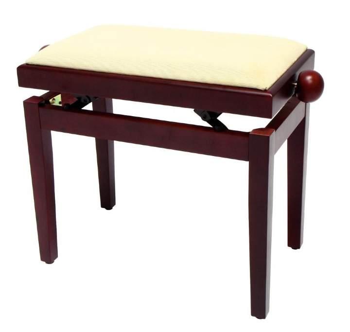 FX Piano Bench Mahogany Matt Beige Seat банкетка красное дерево матовая верх бежевый