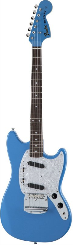 Made in Japan Traditional `70s Mustang® Matching Head Rosewood California Blue