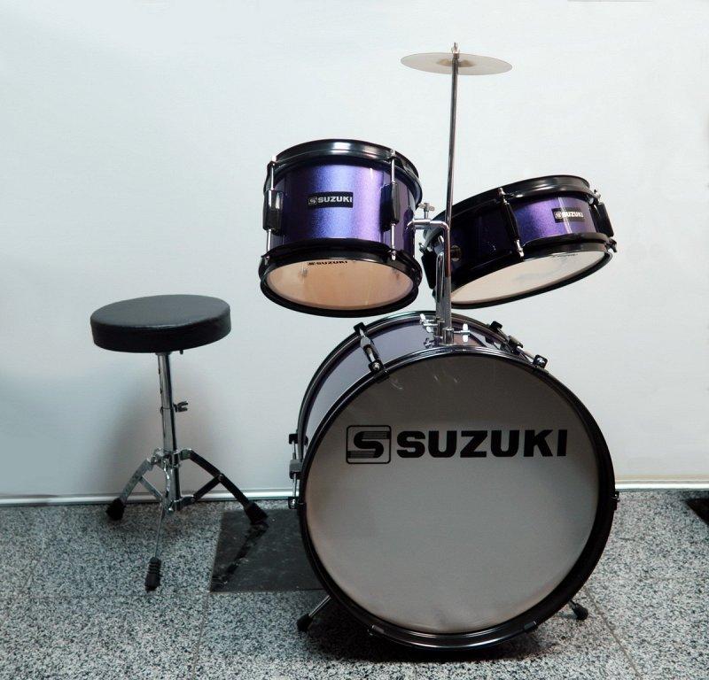 SJD-67 детская барабанная установка 10`/10`/16` педаль+стул, цвет пурпурный