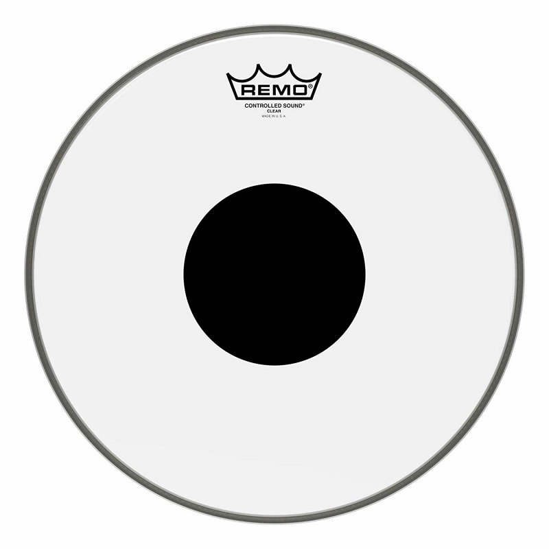 CS-0313-10- Batter, CONTROLLED SOUND®, Clear, 13` Diameter, BLACK DOT™ On Top