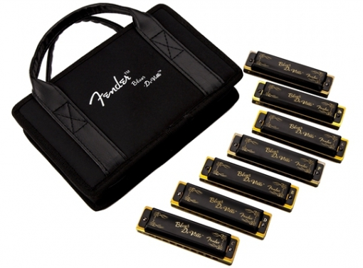 Blues DeVille Harmonica, Pack of 7, with Case