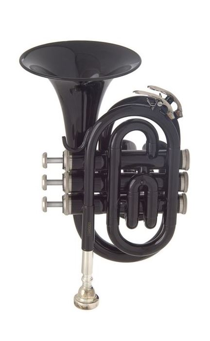 JP159B Труба Bb компактная, черная, лаковое покрытие