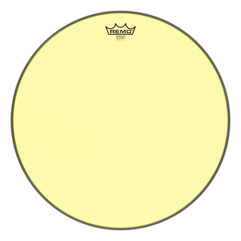 BE-0318-CT-YE Emperor® Colortone™ Yellow Drumhead, 18.